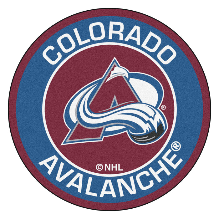 "NHL - Colorado Avalanche Roundel Mat 27"" diameter"