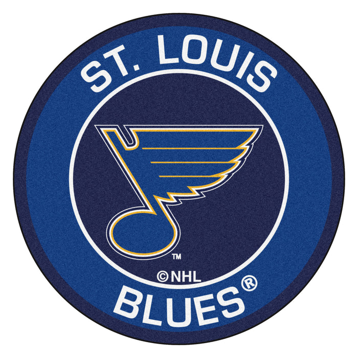 "NHL - St Louis Blues Roundel Mat 27"" diameter"