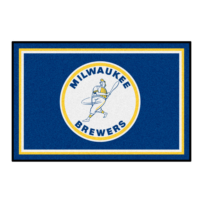 Retro Collection - 1970 Milwaukee Brewers 4x6 Rug