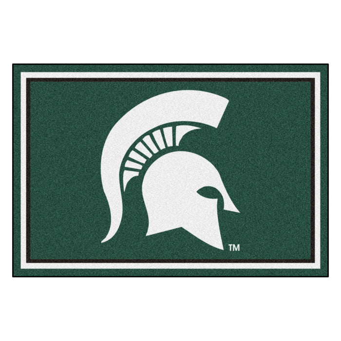 "Michigan State University 5x8 Rug 59.5""x88"""
