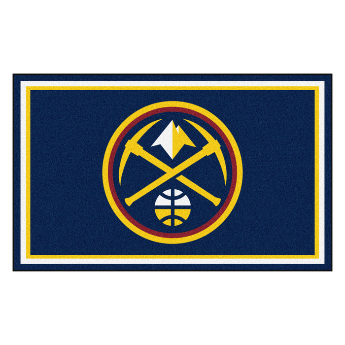 "NBA - Denver Nuggets 4x6 Rug 44""x71"""