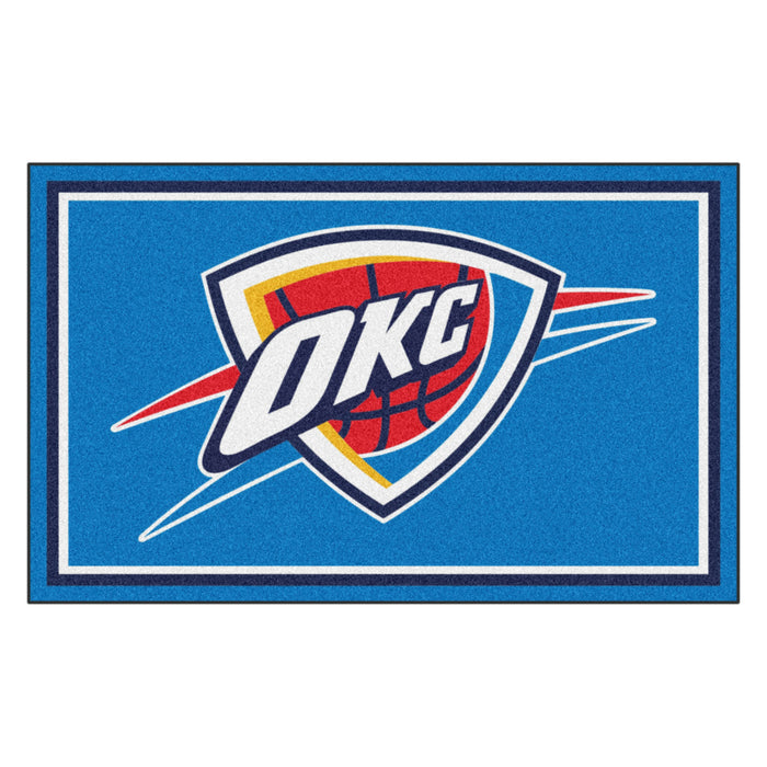 "NBA - Oklahoma City Thunder 4x6 Rug 44""x71"""