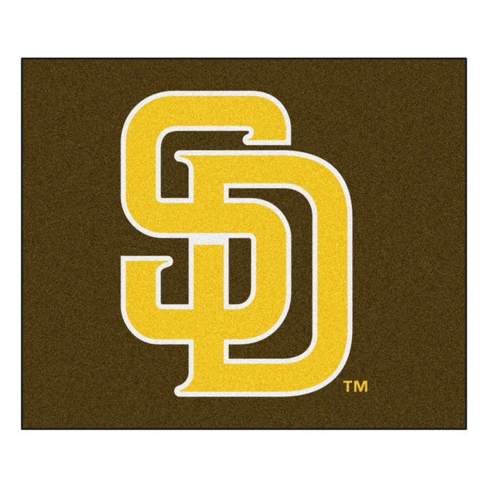 MLB - San Diego Padres Brown/Yellow Tailgater Rug 5'x6'