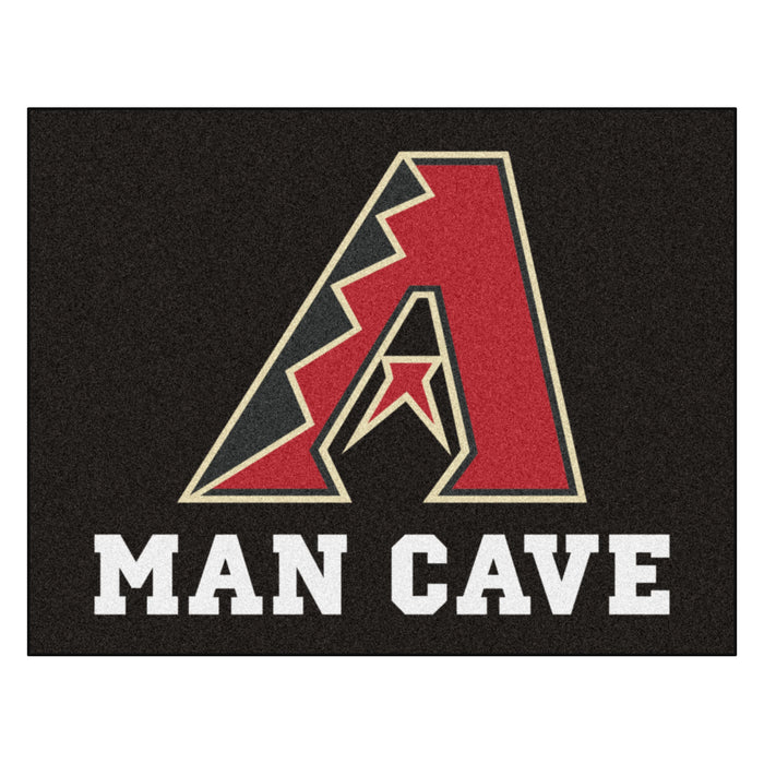 "MLB - Arizona Diamondbacks Man Cave All-Star Mat 33.75""x42.5"" - Fan Cave Rugs"