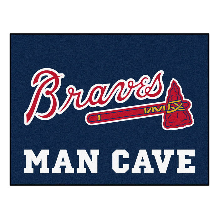 "MLB - Atlanta Braves Man Cave All-Star Mat 33.75""x42.5"" - Fan Cave Rugs"
