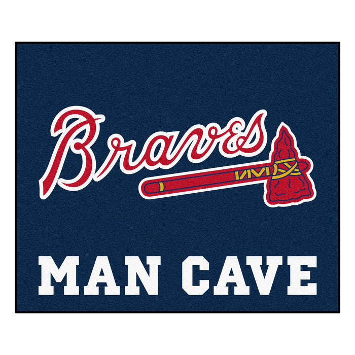 MLB - Atlanta Braves Man Cave Tailgater Rug 5'x6' - Fan Cave Rugs
