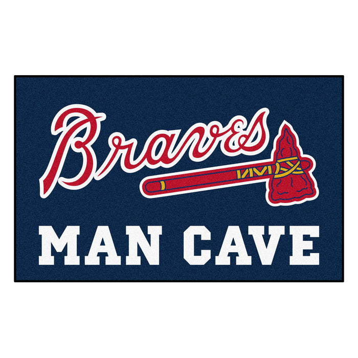 MLB - Atlanta Braves Man Cave UltiMat 5'x8' Rug - Fan Cave Rugs