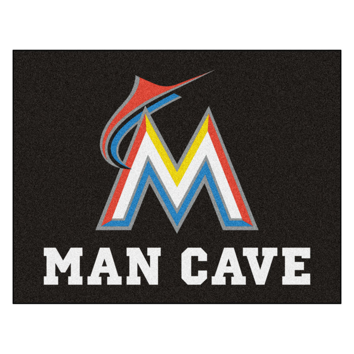 "MLB - Miami Marlins Man Cave All-Star Mat 33.75""x42.5"""