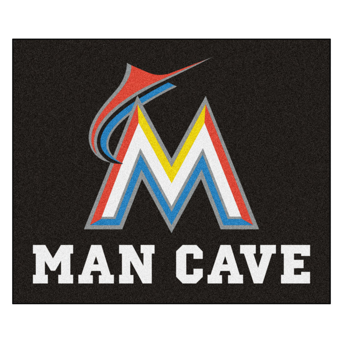 MLB - Miami Marlins Man Cave Tailgater Rug 5'x6'