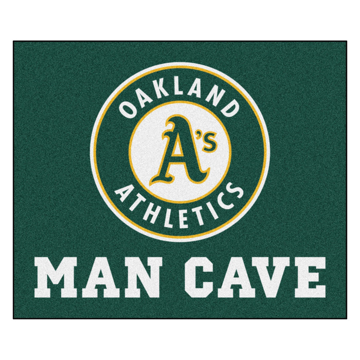 MLB - Oakland Athletics Man Cave Tailgater Rug 5'x6'