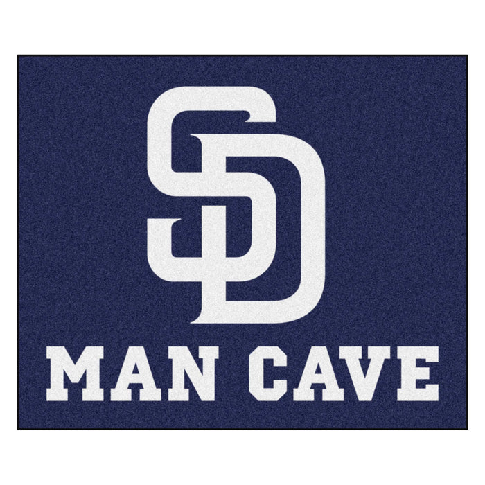 MLB - San Diego Padres Man Cave Tailgater Rug 5'x6' From Fan Cave Rugs