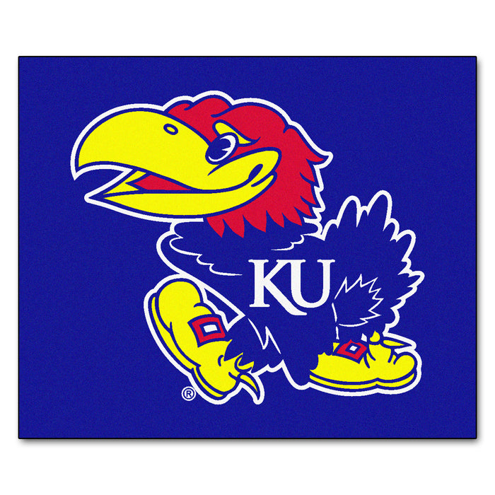Kansas Tailgater Rug 5'x6' - Fan Cave Rugs