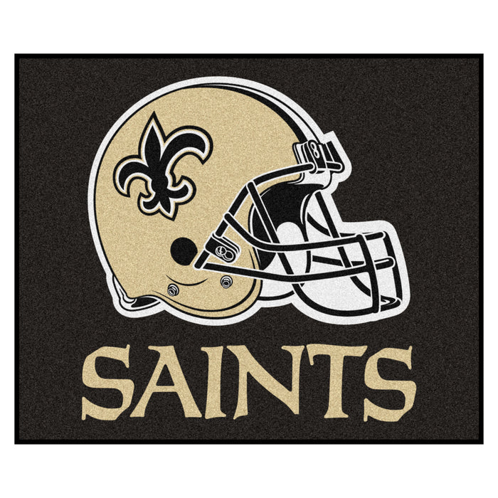 NFL - New Orleans Saints Tailgater Rug 5'x6' - Fan Cave Rugs