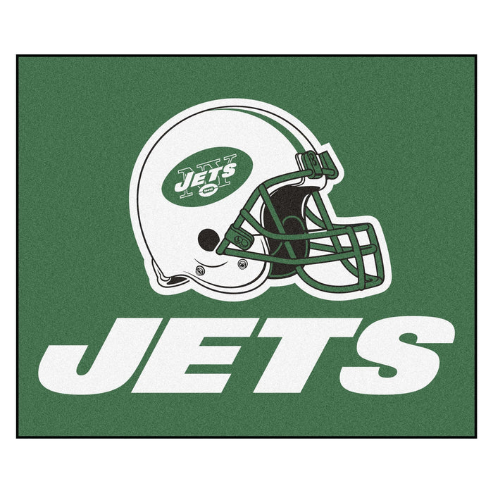 NFL - New York Jets Tailgater Rug 5'x6' - Fan Cave Rugs