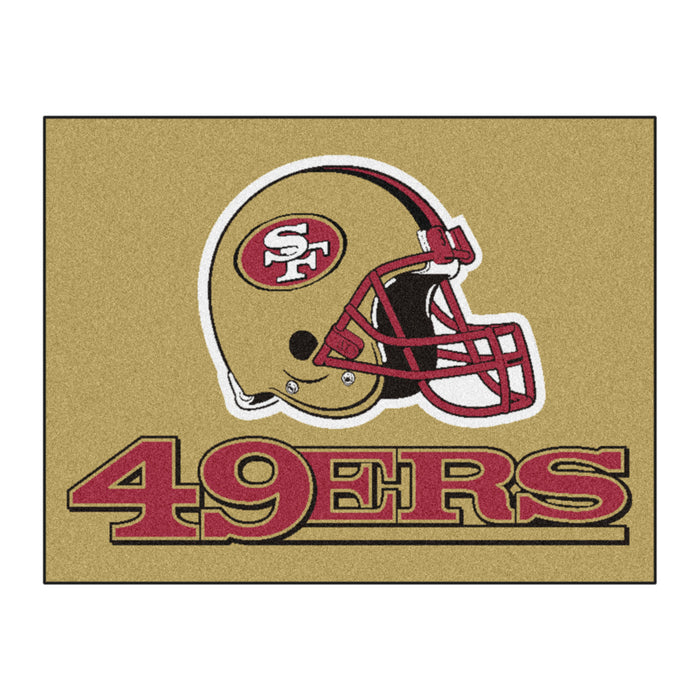 "NFL - San Francisco 49ers All-Star Mat 33.75""x42.5"" - Fan Cave Rugs"