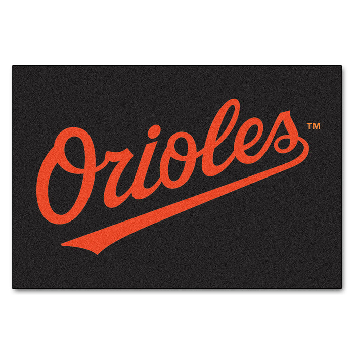 "MLB - Baltimore Orioles All-Star Mat 33.75""x42.5"" - Fan Cave Rugs"