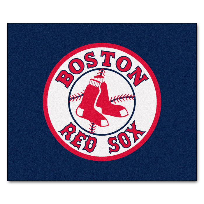 MLB - Boston Red Sox Tailgater Rug 5'x6' - Fan Cave Rugs