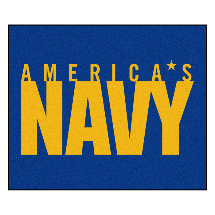 Navy Tailgater Rug 5'x6' - Fan Cave Rugs