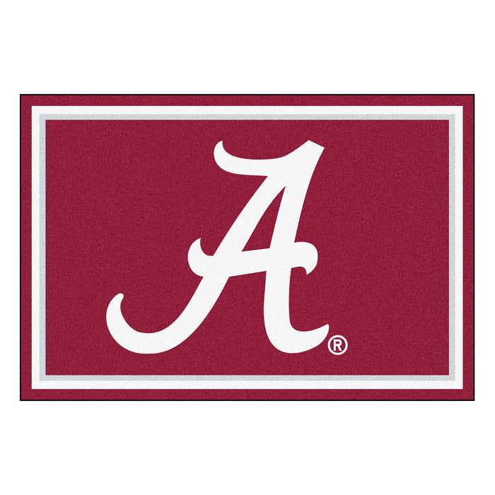 "University of Alabama 5x8 Rug 59.5""x88"""