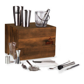 Cleveland Browns - Madison Acacia Tabletop Bar Set, (Acacia Wood)