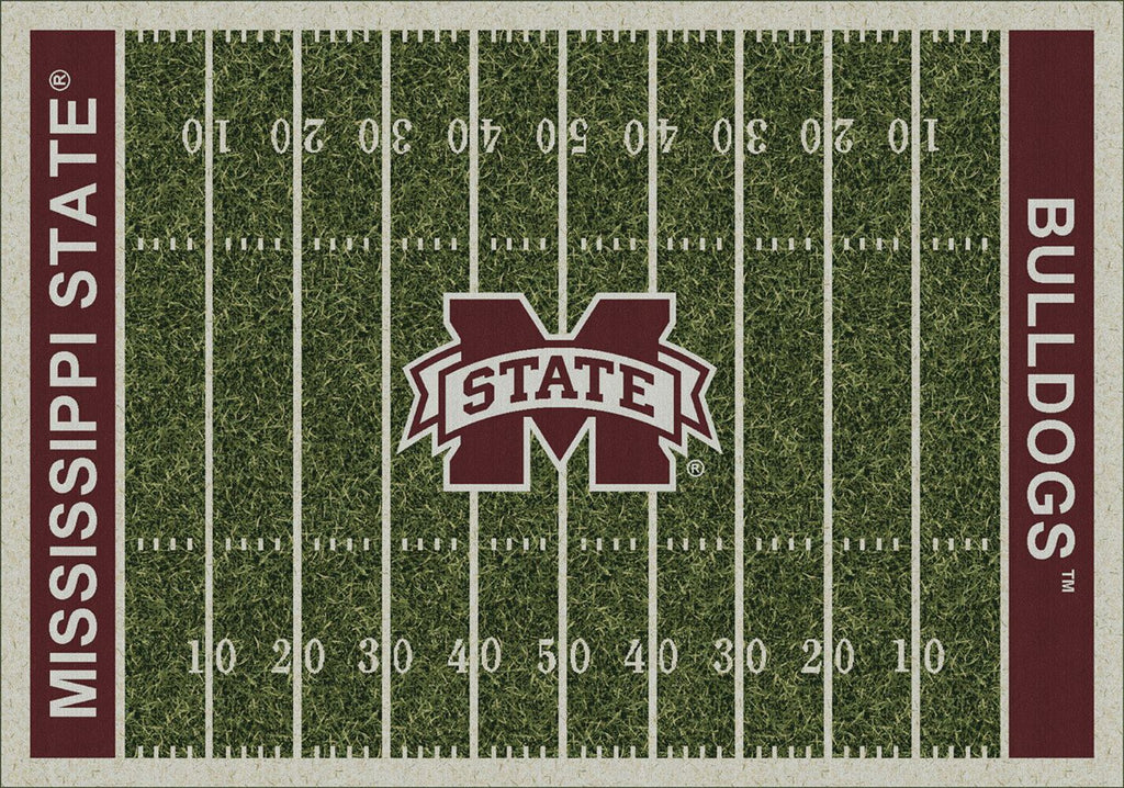 Mississippi State Football Field Rug