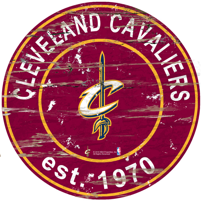 "Fan Cave Rugs:Cleveland Cavaliers Established Date 24"" Round Sign"