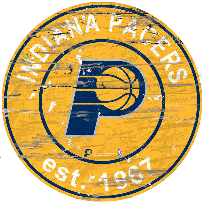 "Indiana Pacers Established Date 24"" Round Sign"