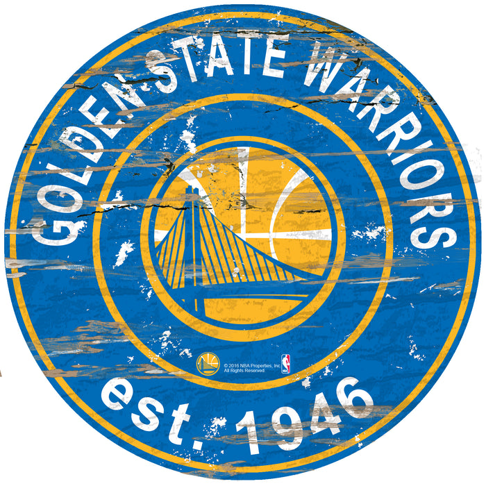 "Golden State Warriors Established Date 24"" Round Sign"