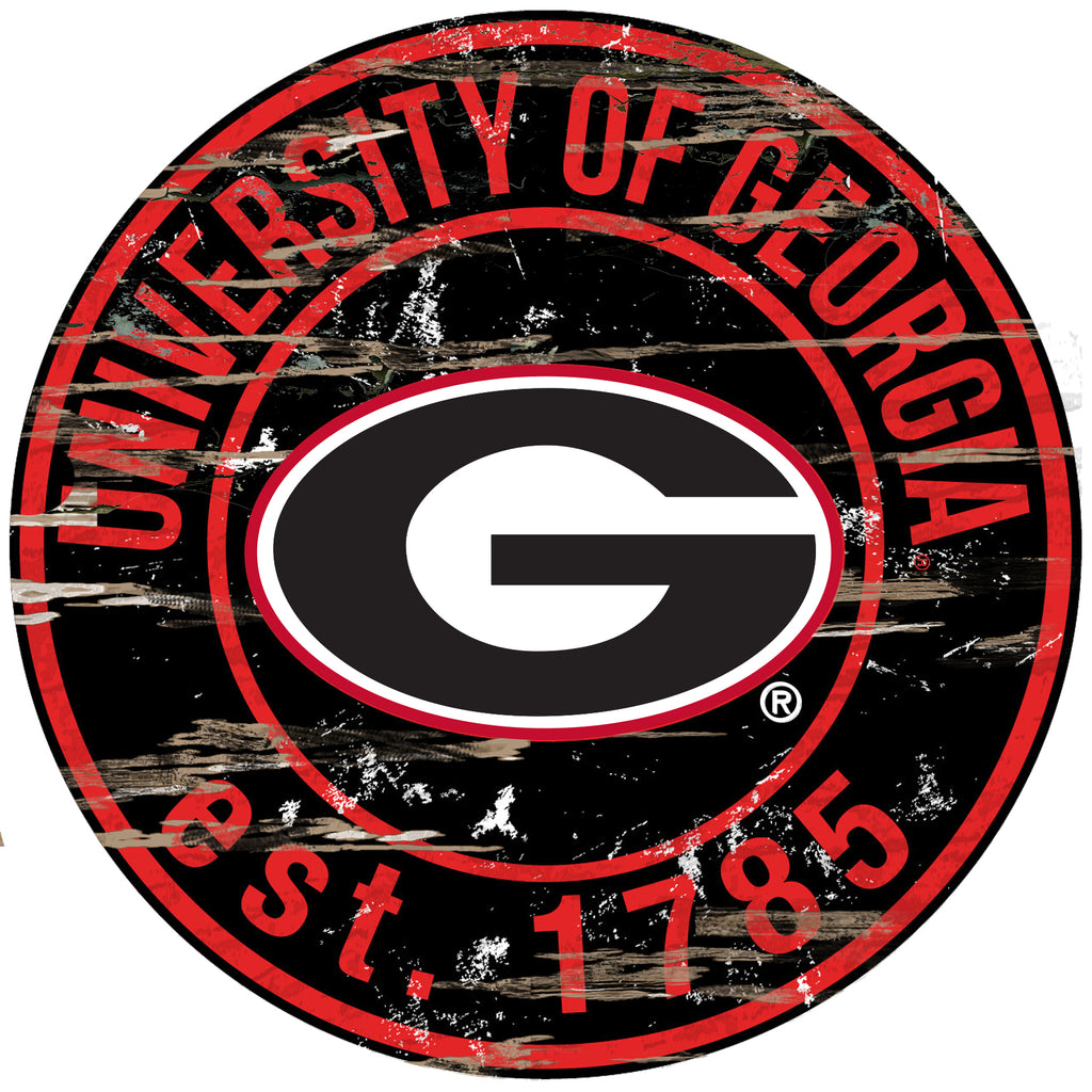 "Georgia Distressed 24"" Round Sign"