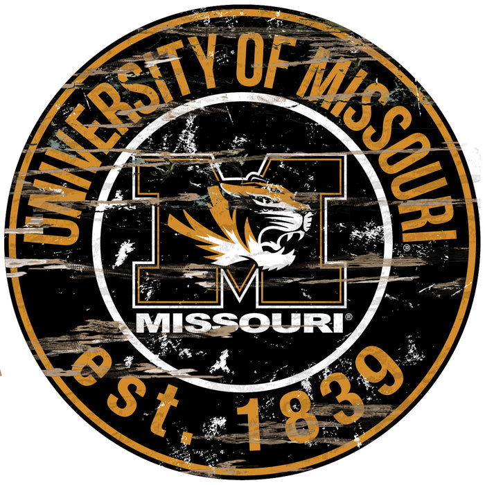 "Missouri Distressed 24"" Round Sign"