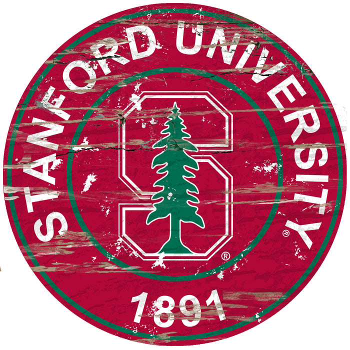 "Stanford Distressed 24"" Round Sign"
