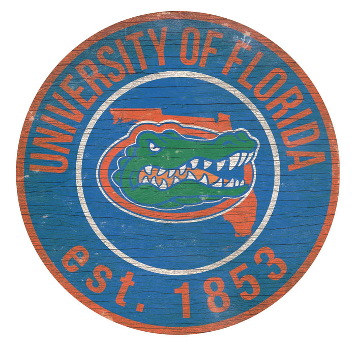 "Florida with Logo 24"" Round Sign"