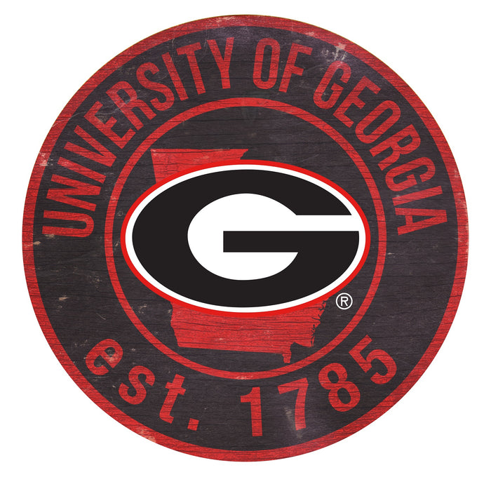 "Georgia with Logo 24"" Round Sign"