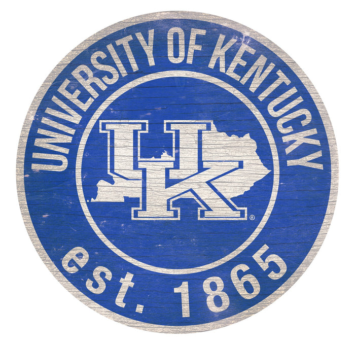 "Kentucky with Logo 24"" Round Sign"