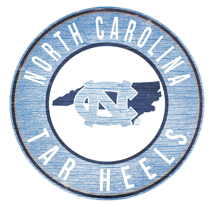 "North Carolina with Logo 24"" Round Sign"