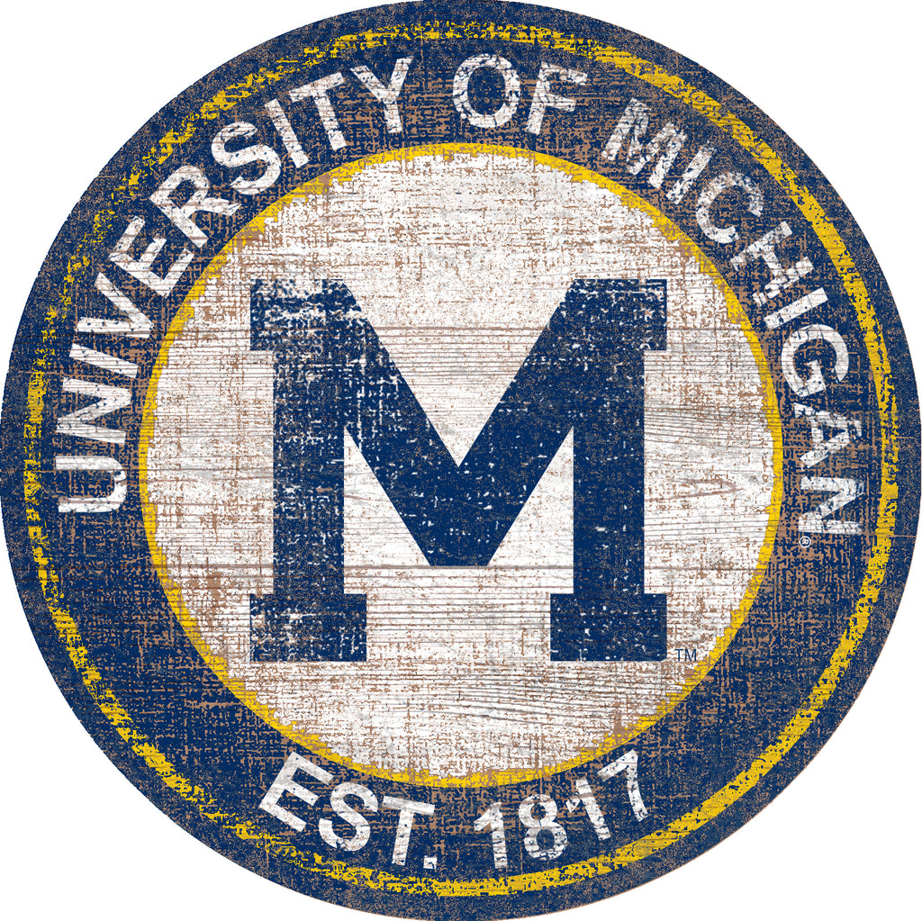 "Michigan Heritage Logo 24"" Round Wall Art"