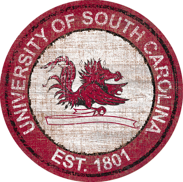 "South Carolina Heritage Logo 24"" Round Wall Art"