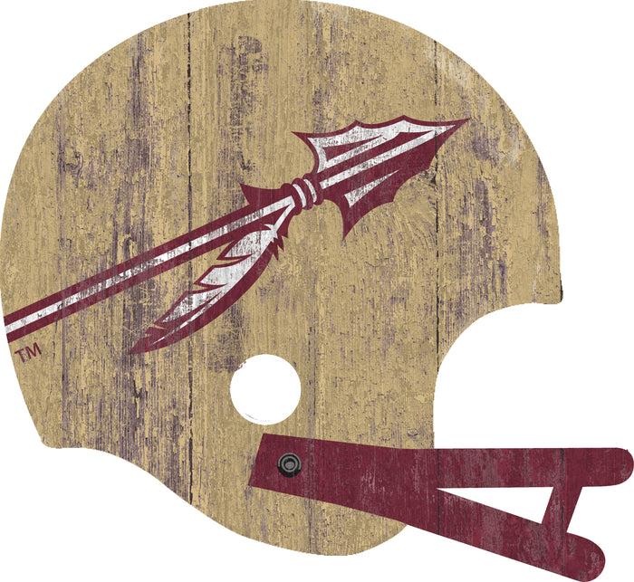 "Florida State Distressed Helmet Cutout 24"" Wall Art"