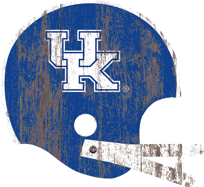 "Kentucky Distressed Helmet Cutout 24"" Wall Art"
