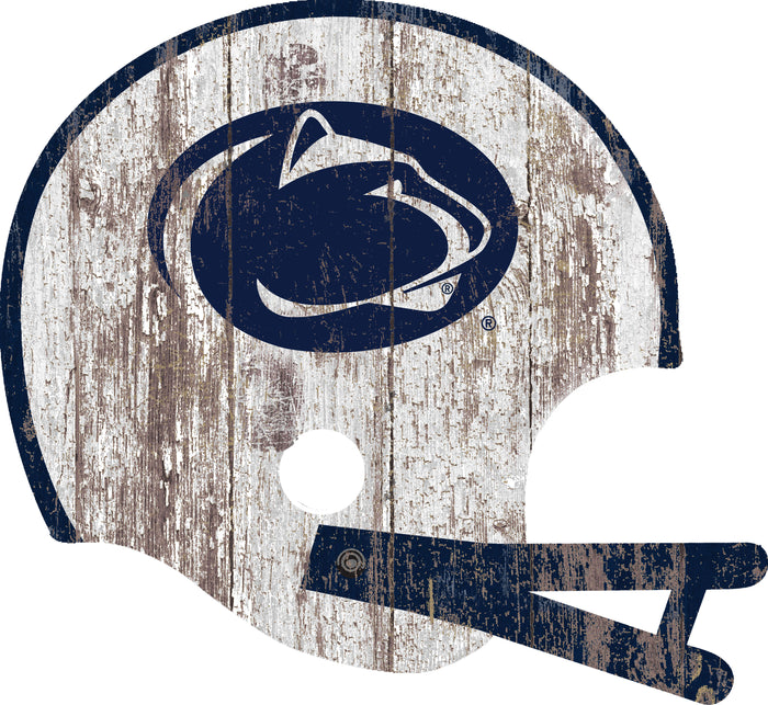 "Penn State Distressed Helmet Cutout 24"" Wall Art"