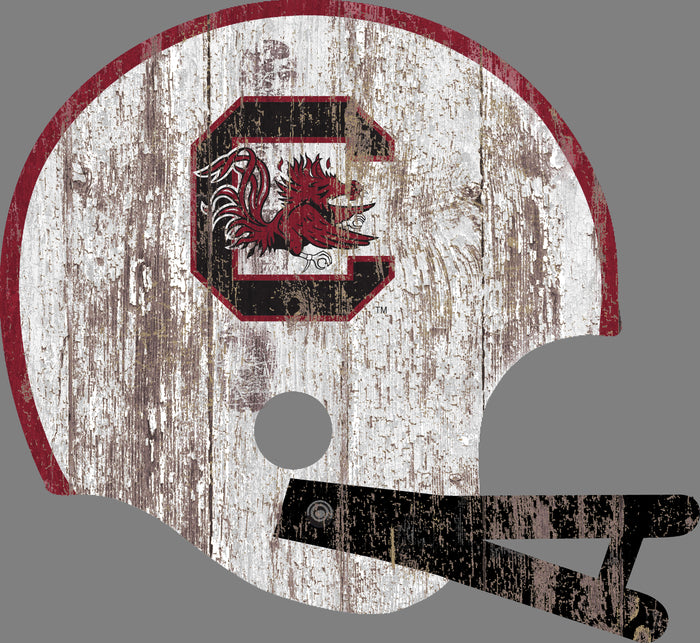 "South Carolina Distressed Helmet Cutout 24"" Wall Art"