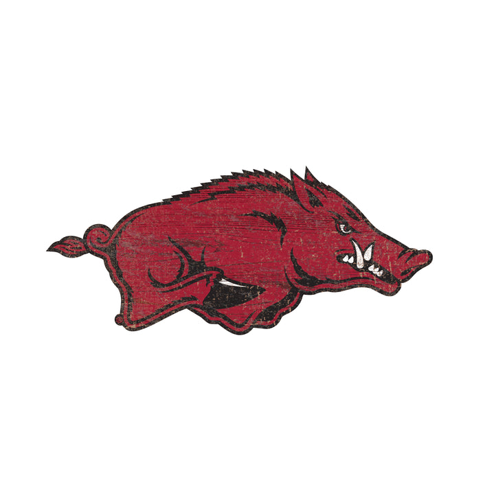 "Fan Cave Rugs:Arkansas Distressed Logo Cutout 24"" Sign"
