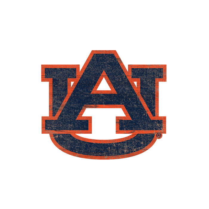 "Fan Cave Rugs:Auburn Distressed Logo Cutout 24"" Sign"