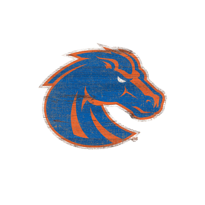 "Fan Cave Rugs:Boise State Distressed Logo Cutout 24"" Sign"