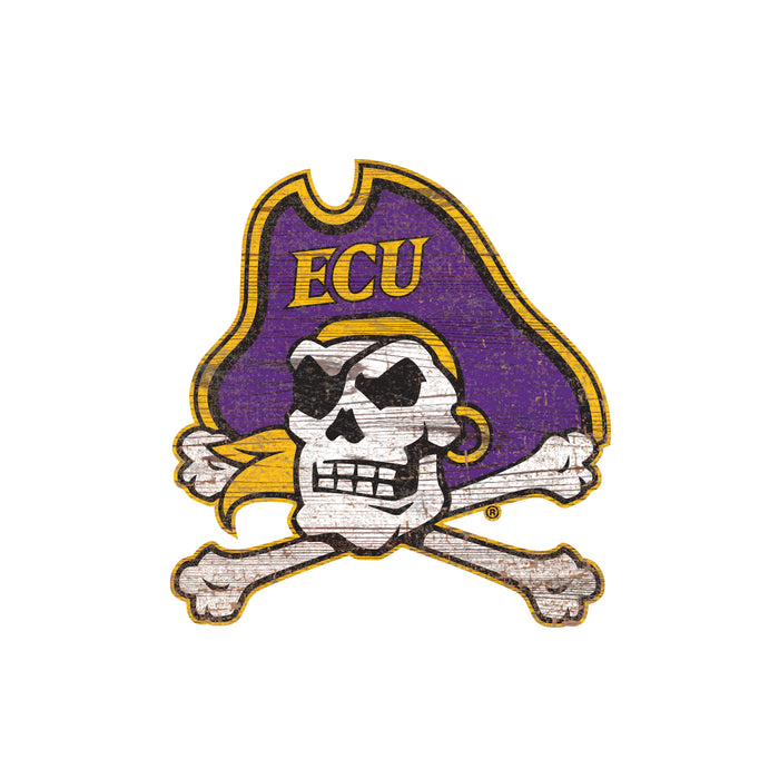 "East Carolina Distressed Logo Cutout 24"" Sign"
