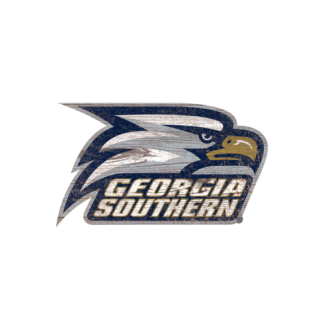 "Georgia Southern Distressed Logo Cutout 24"" Sign"