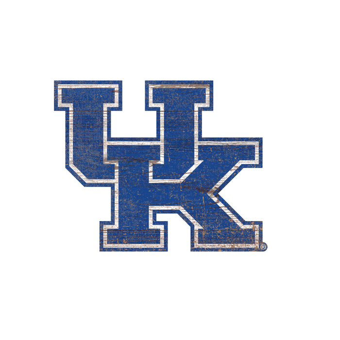 "Kentucky Distressed Logo Cutout 24"" Sign - Fan Cave Rugs"