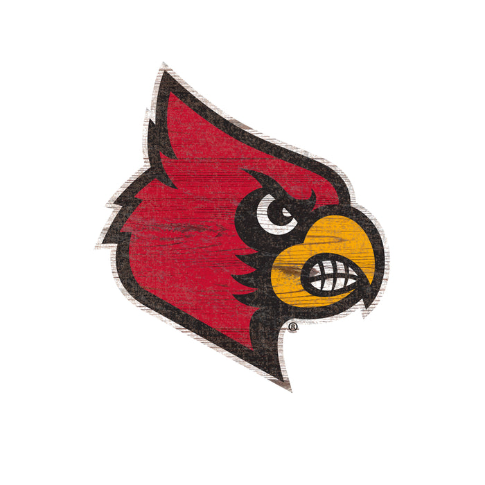 "Louisville Distressed Logo Cutout 24"" Sign"