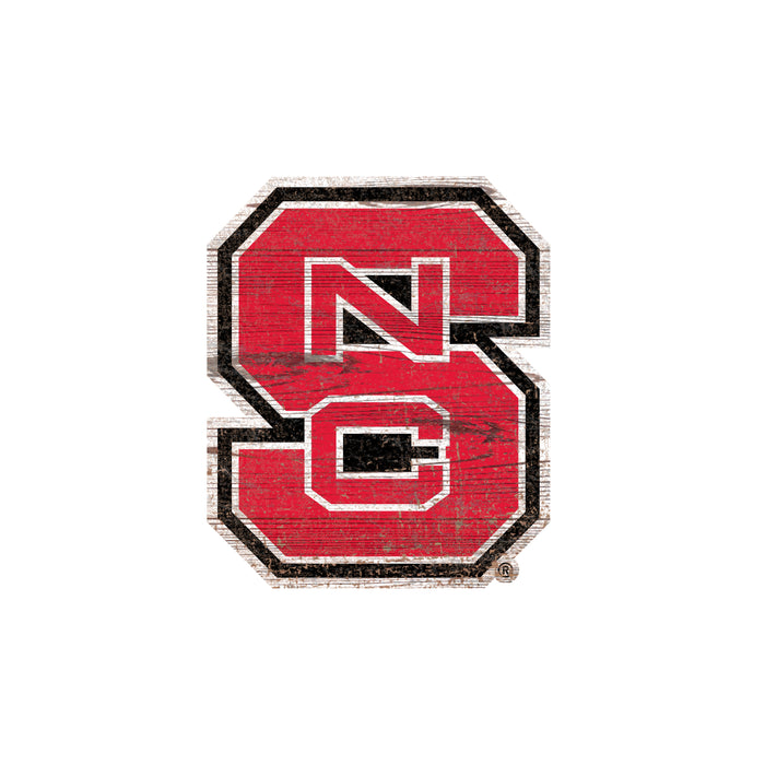 "NC State Distressed Logo Cutout 24"" Sign"