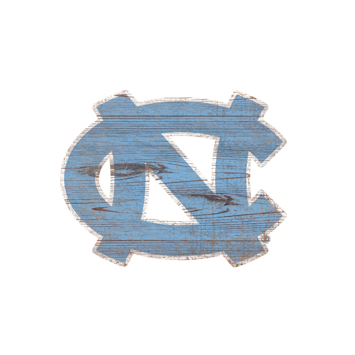 "North Carolina Distressed Logo Cutout 24"" Sign"